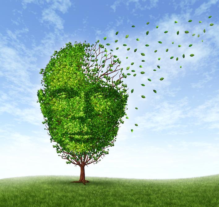 illustrasjon av kognitiv svekkelse, mental helse