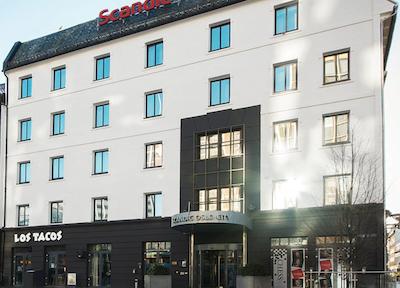 hotell Scandic fasade, tatt fra gateplan